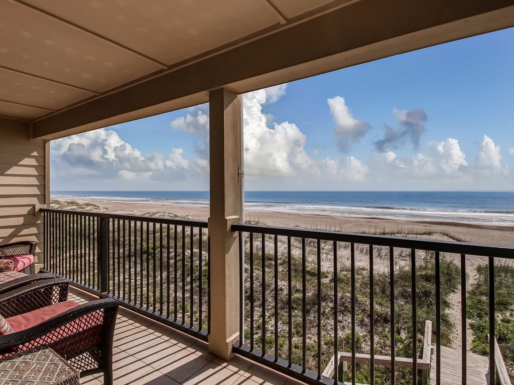 You are right on the beach in this condo!