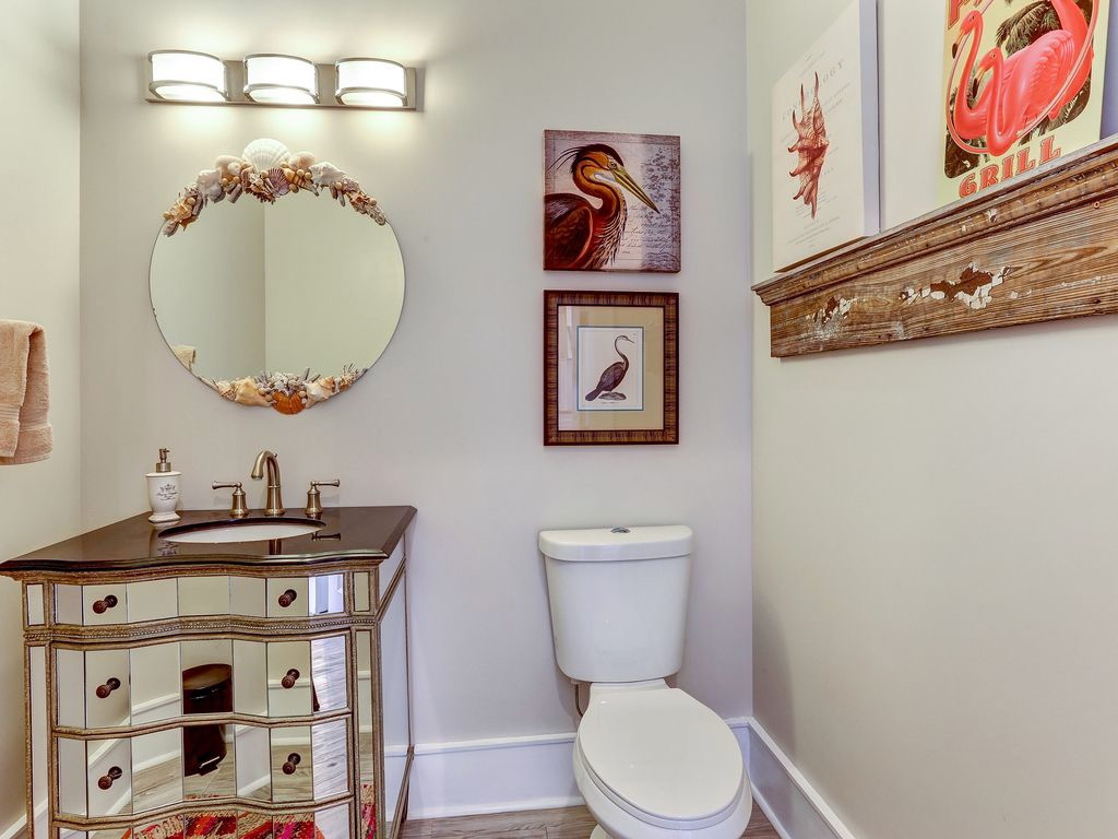 Top floor powder room