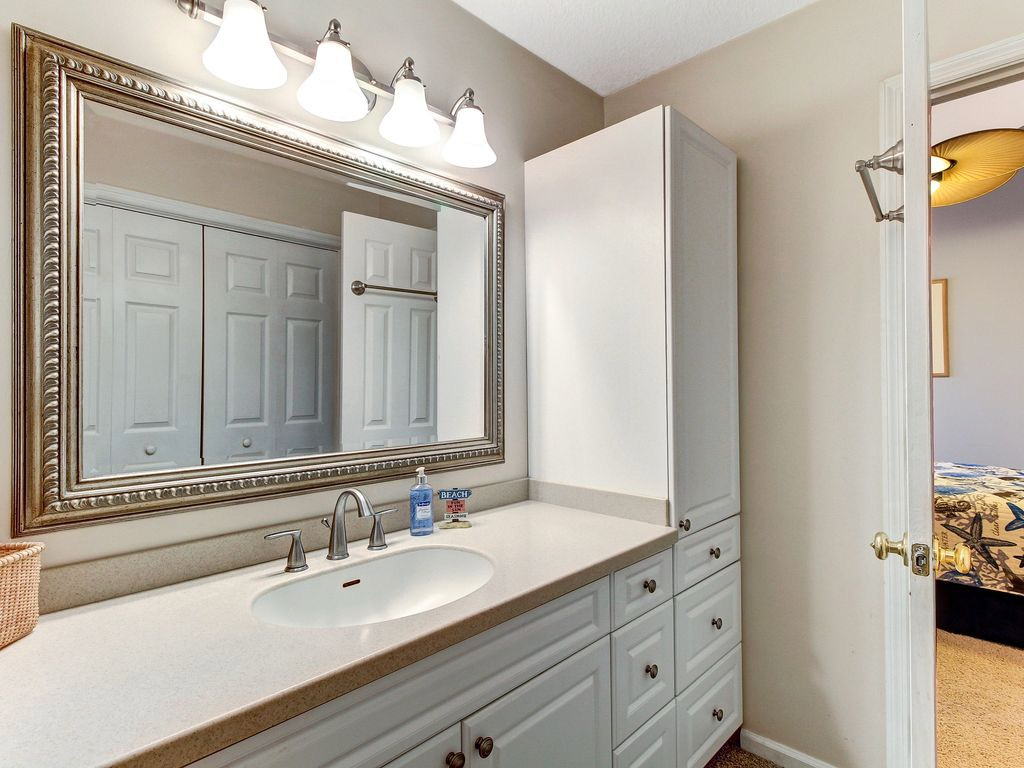 Master bathroom vanity area