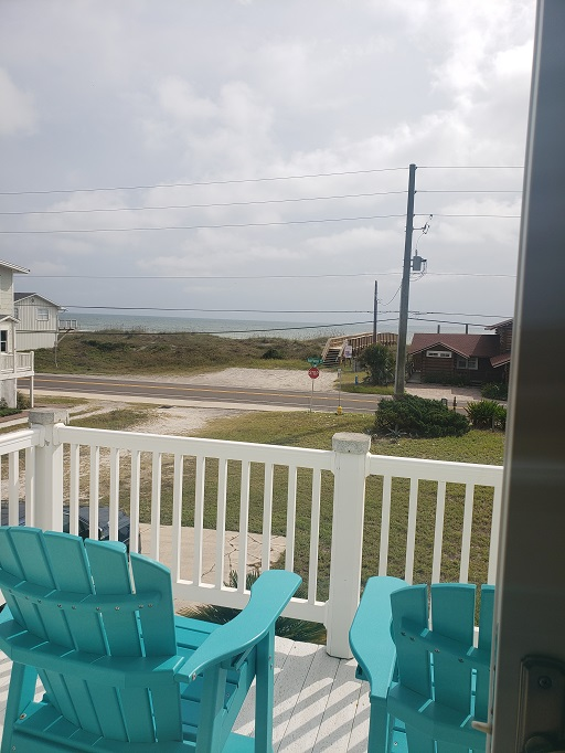 View from deck toward ocean