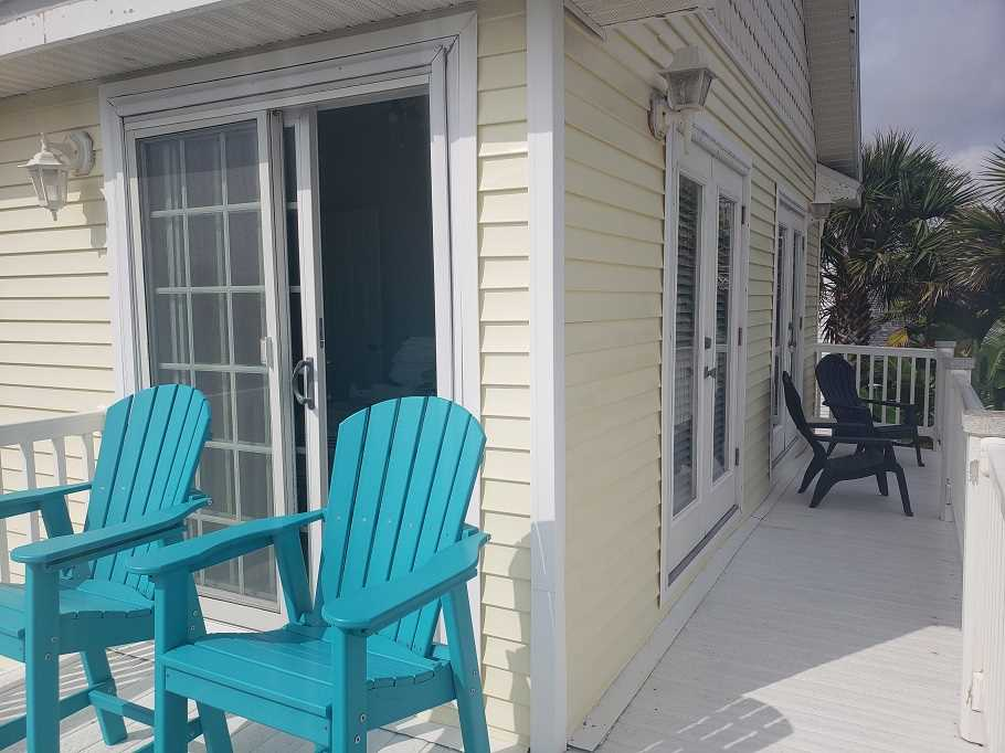 Convenient access to the deck from two bedrooms