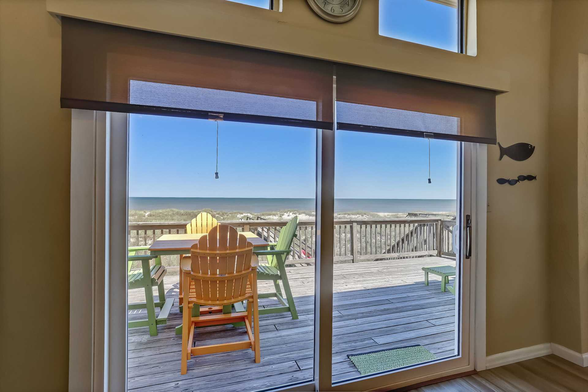 From living area looking out onto deck