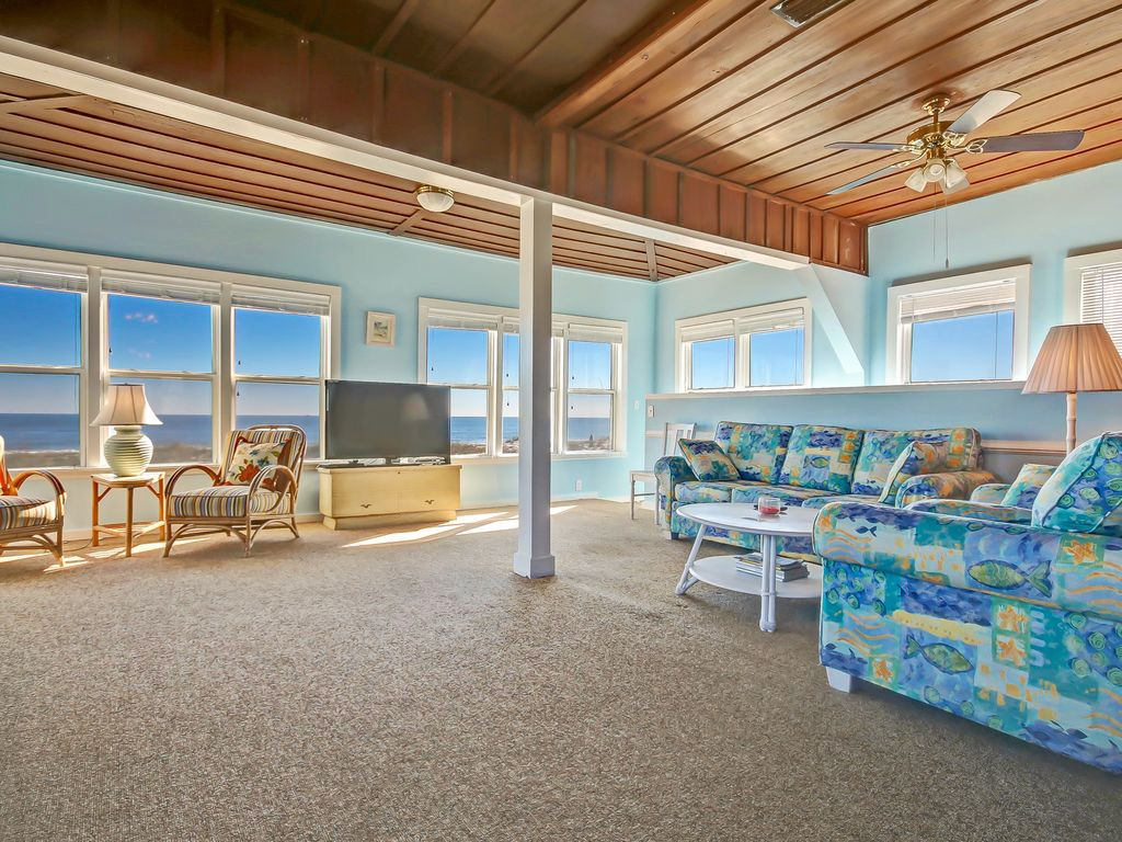 The living area has a beautiful Ocean View
