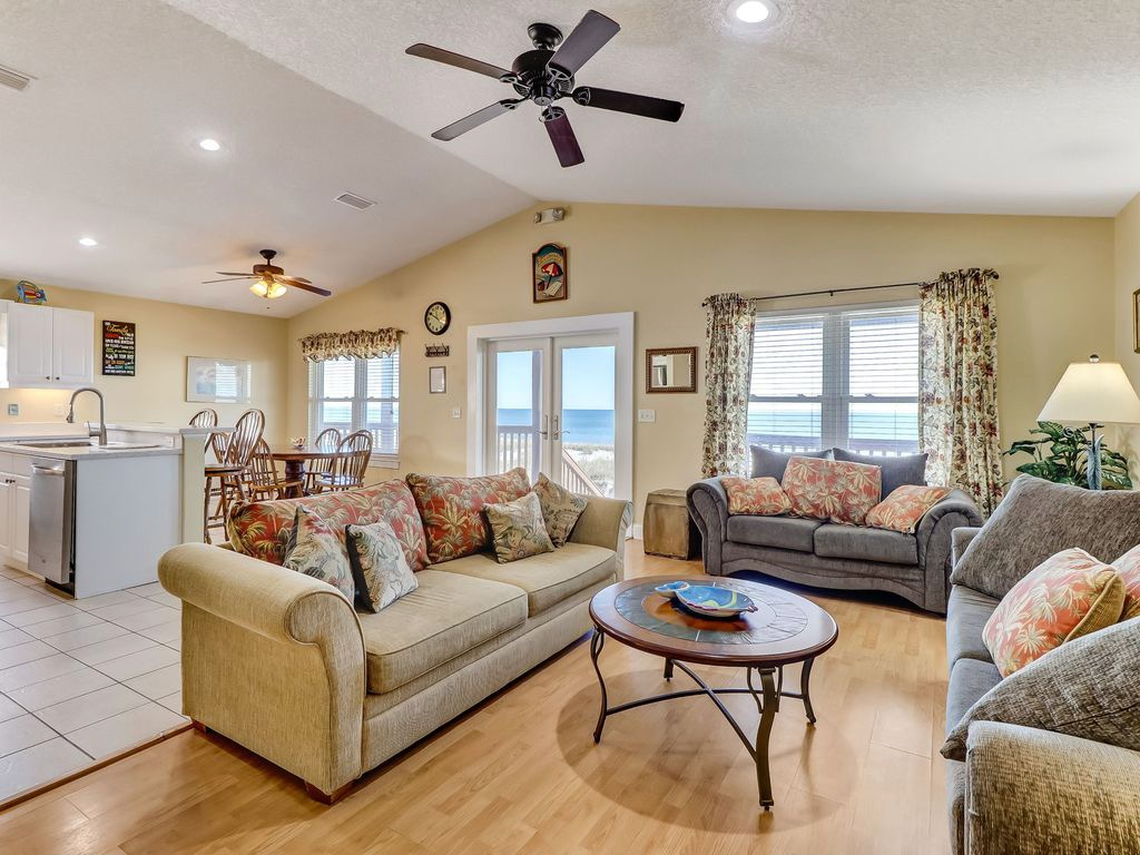 Enjoy Ocean Views while relaxing in the living area!