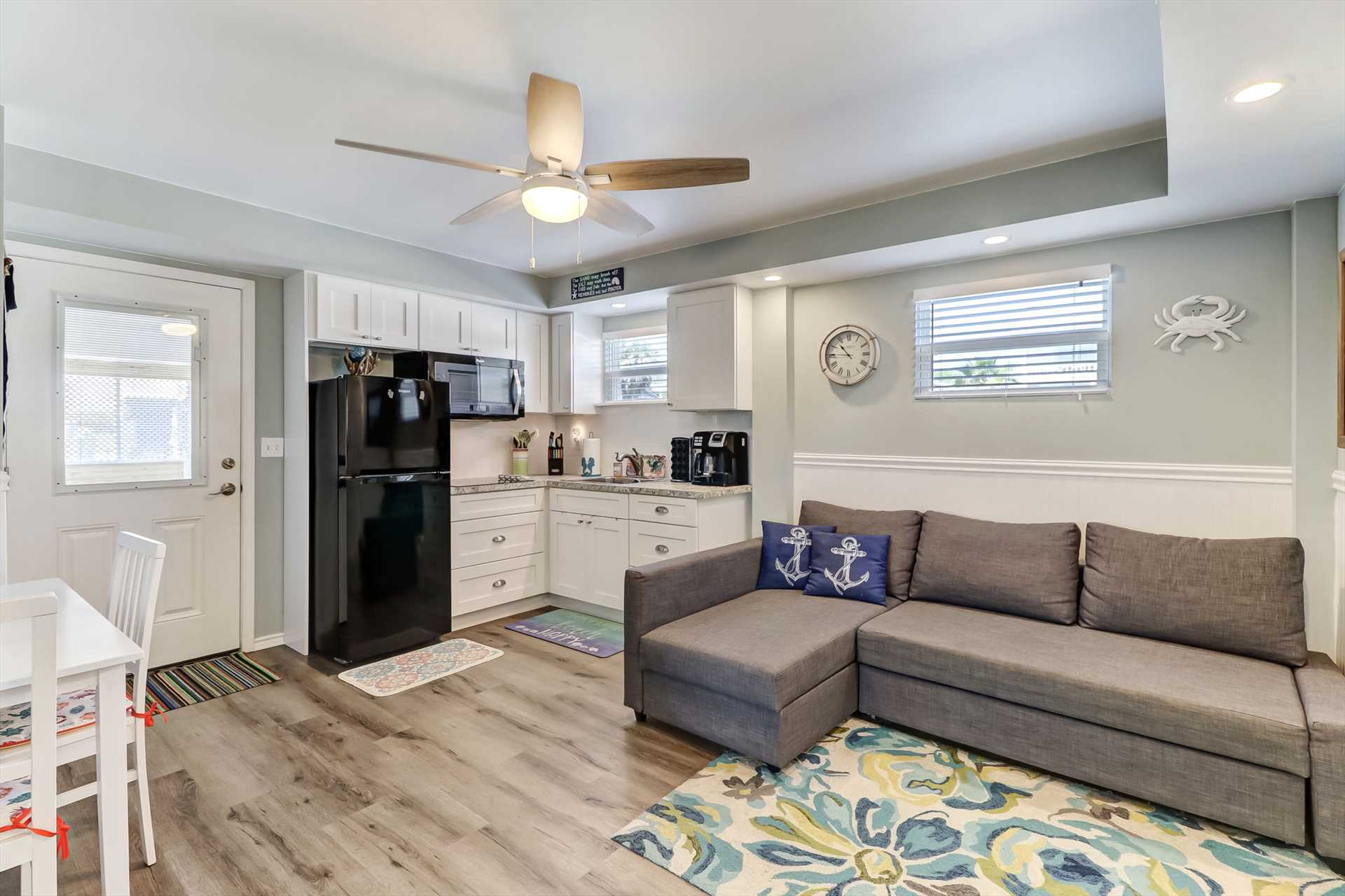 Recently remodeled living space